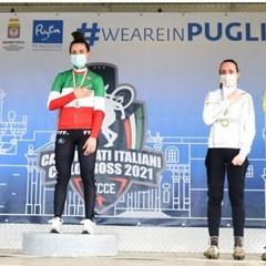 Lecce 2021  Tricolori Ciclocross  podio gara femminile