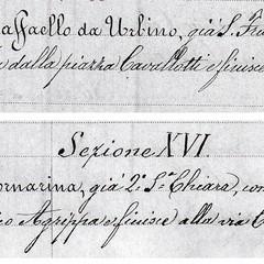 Canosa Archivio Storico :Vico Raffaello e Vico Fornarina