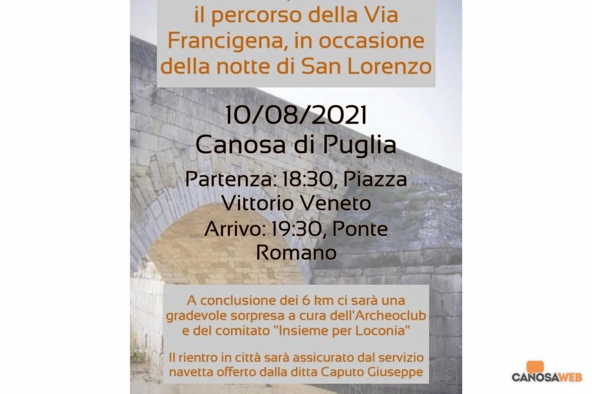 2021 Camminata San Lorenzo Canosa