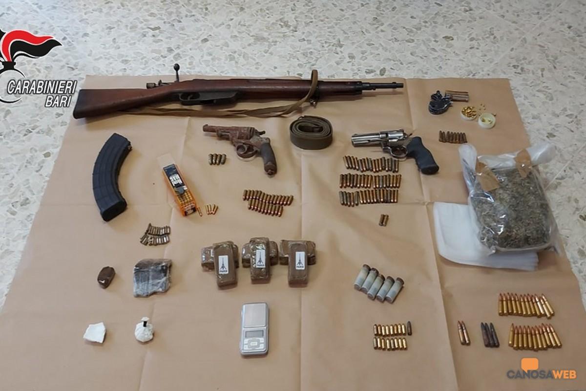 2021 Canosa: un arresto per armi e droga