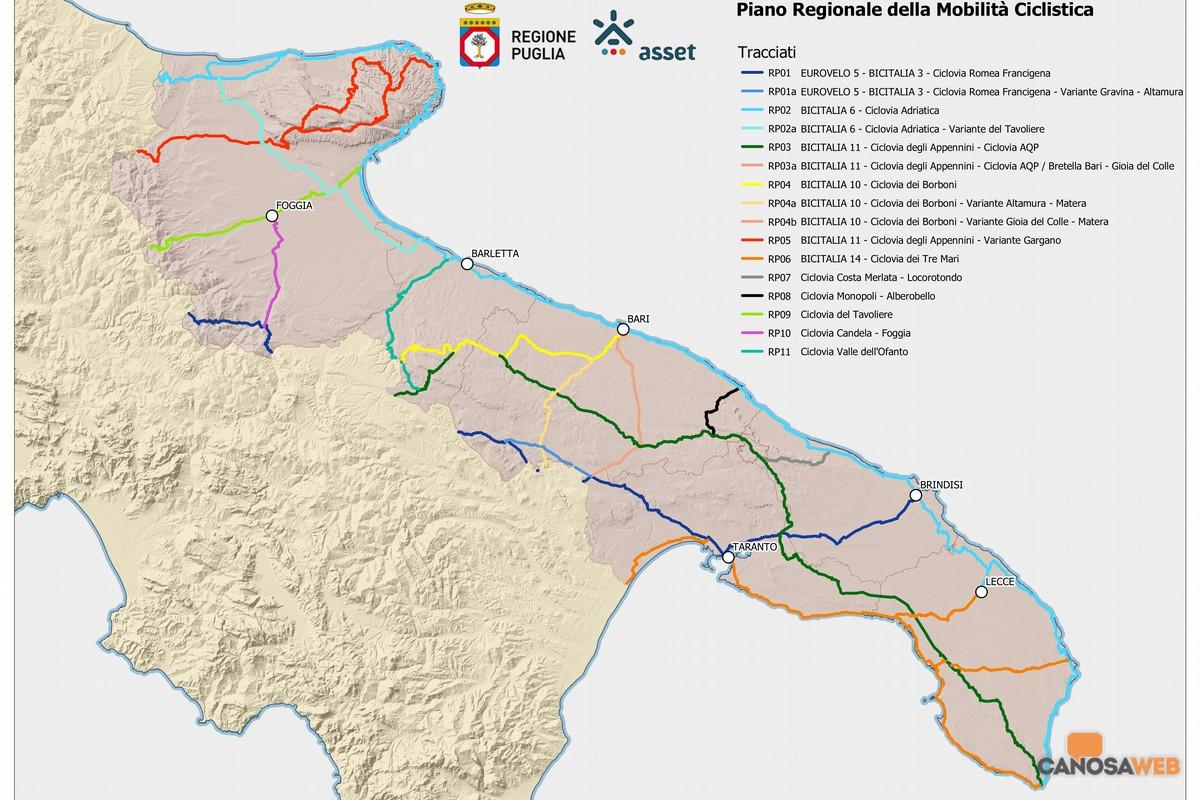 Puglia:  il piano regionale della mobilita' ciclistica