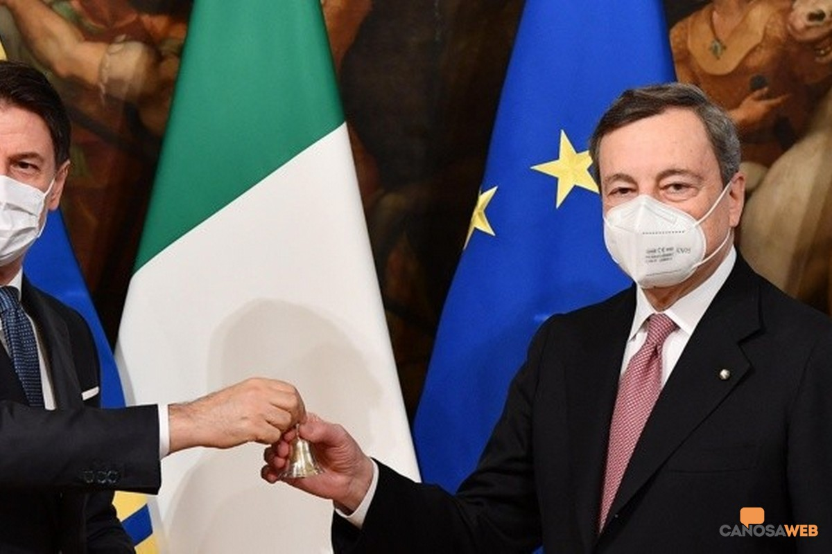 Presidenti Giuseppe Conte e Mario Draghi