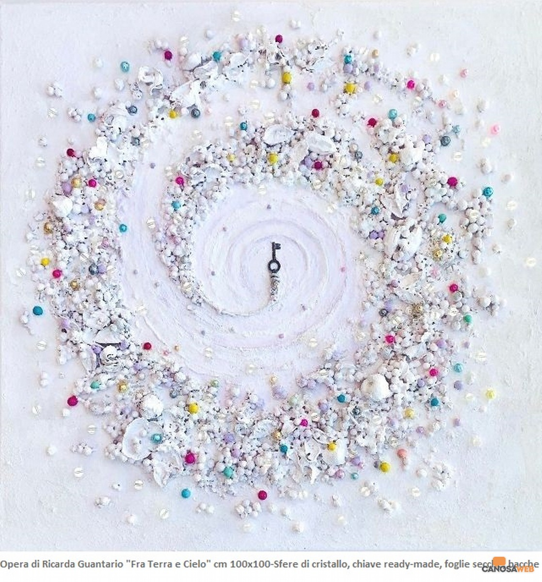 Fra terra e cielo. Ricarda Guantario. cm 100 x100 su tela