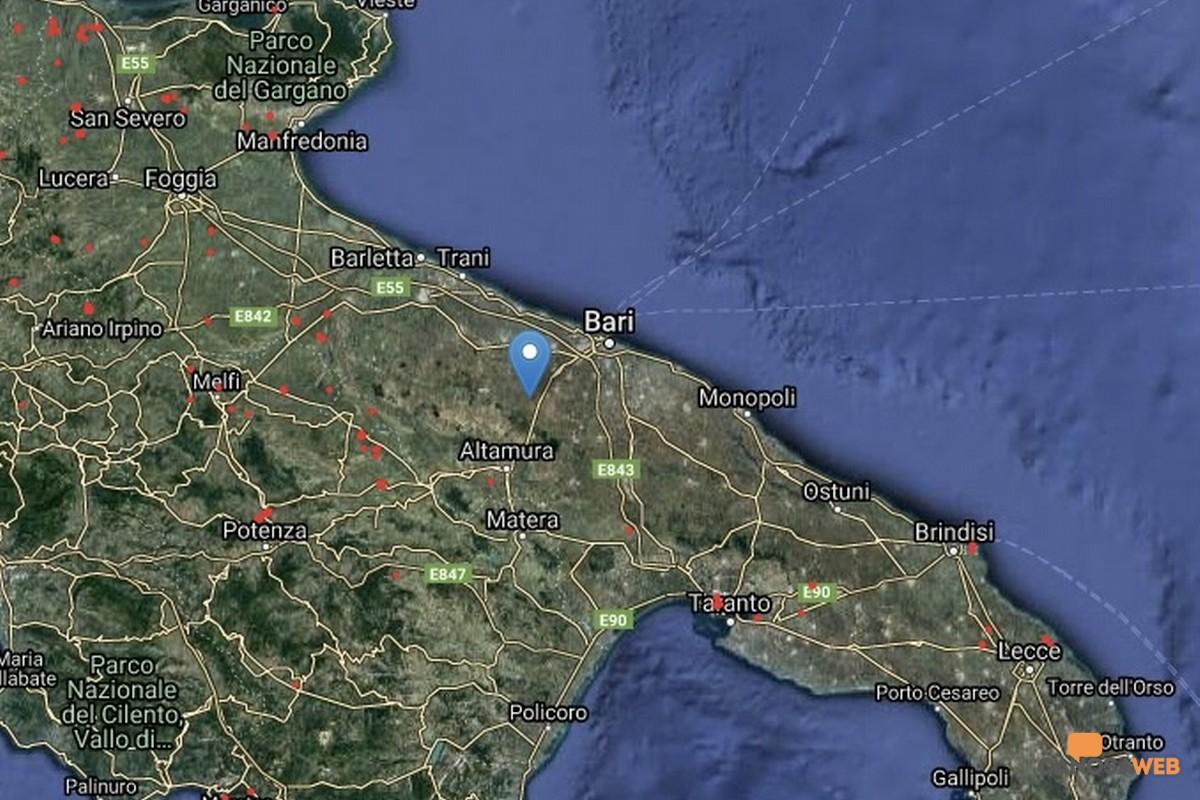 La mappa dei roghi attivi in Puglia 2021