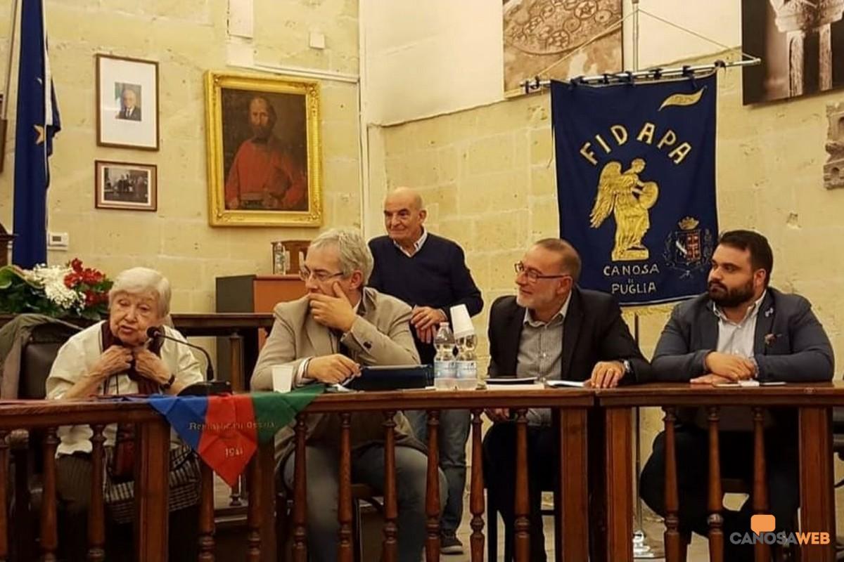2016 La partigiana Lidia Menapace nella sala consiliare a Canosa di Puglia