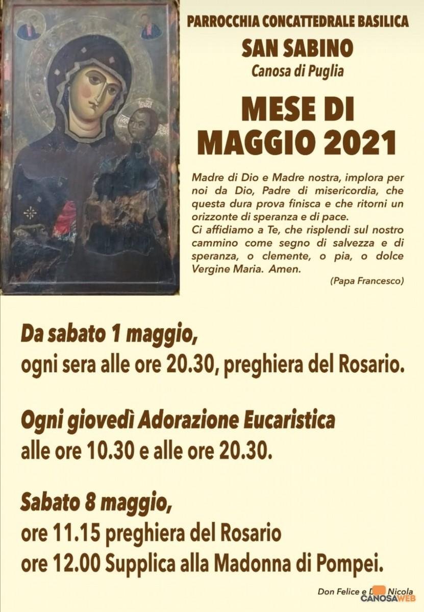 Canosa 2021 - Maggio : mese dedicato alla Madonna .
