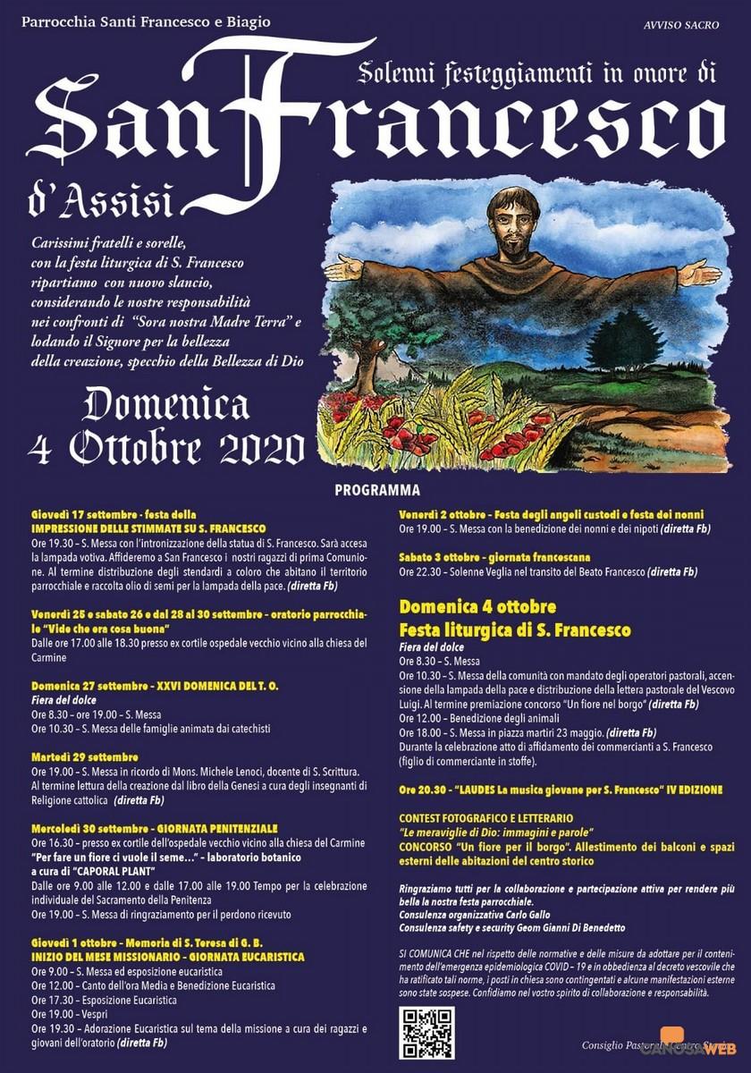 San Francesco d'Assisi Solenni Festeggiamenti Canosa di Puglia 2020