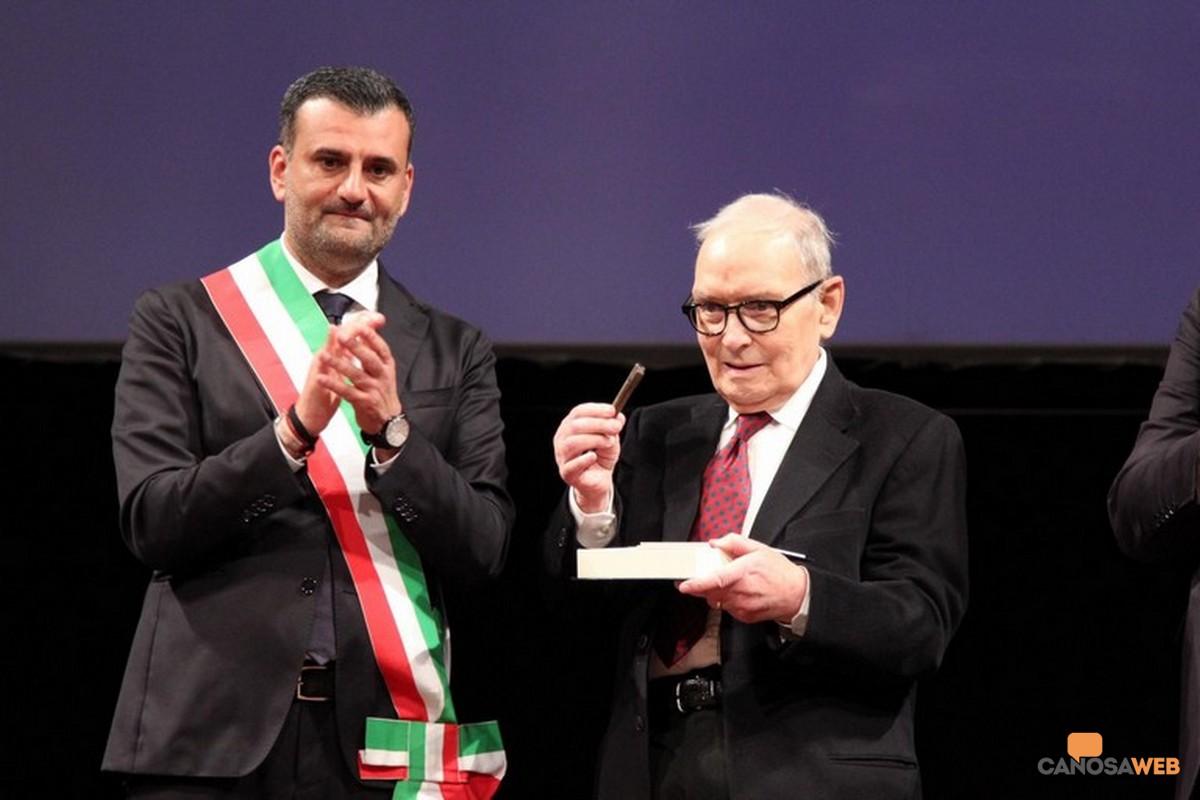 2019 Bari Ennio Morricone e sindaco Antonio Decaro