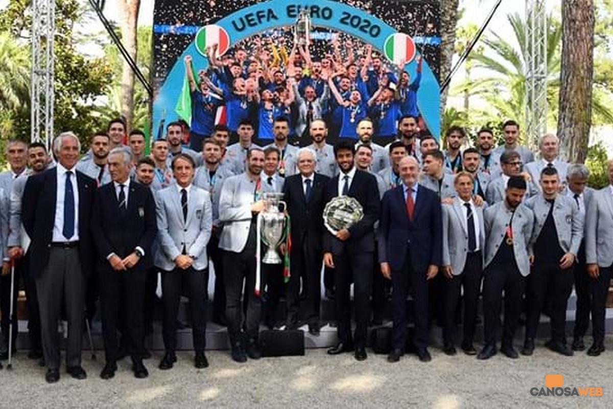 I giocatori della Nazionale Cavalieri al Merito della Repubblica Italiana