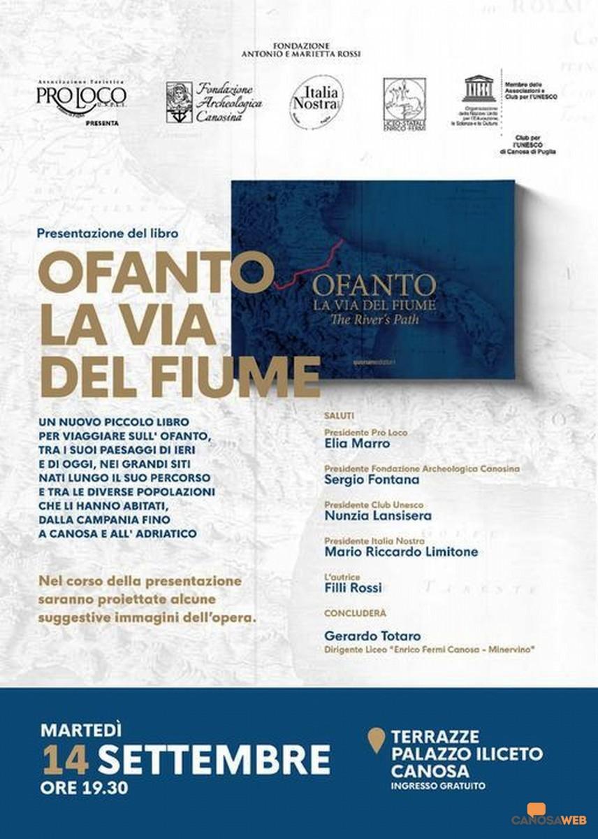 OFANTO LA VIA DEL FIUME DI FILLI ROSSI-  CANOSA 2021