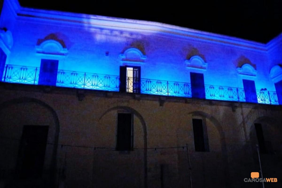 Palazzo Iliceto s'illumina di blu! Canosa 2021