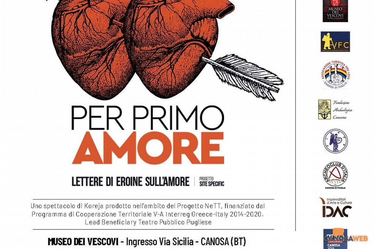"""A Canosa : """"PER PRIMO AMORE - Lettere di eroine sull'amore"""""""