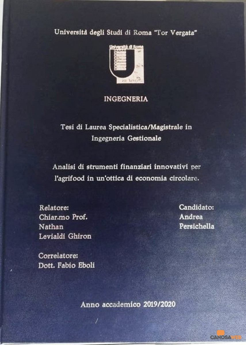 2021 Laurea magistrale in Ingegneria per Andrea Persichella