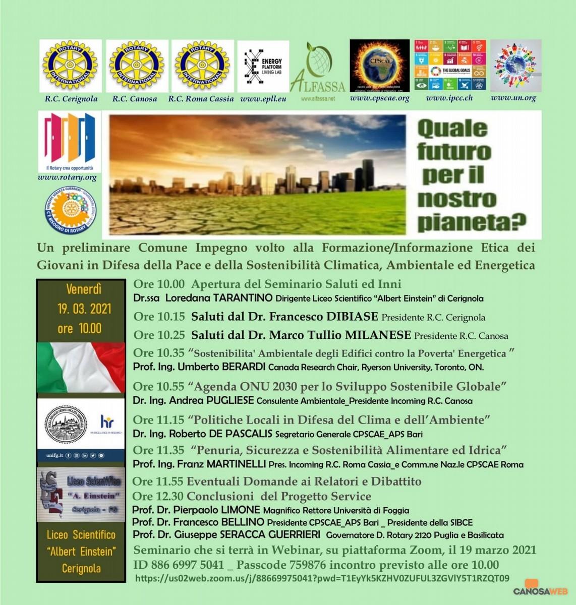 """2021 Seminario tema """"Difesa del Clima e dell'Ambiente"""""""
