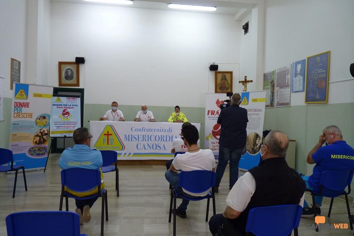 2020 Conferenza stampa FRATRES e Misericordia a Canosa