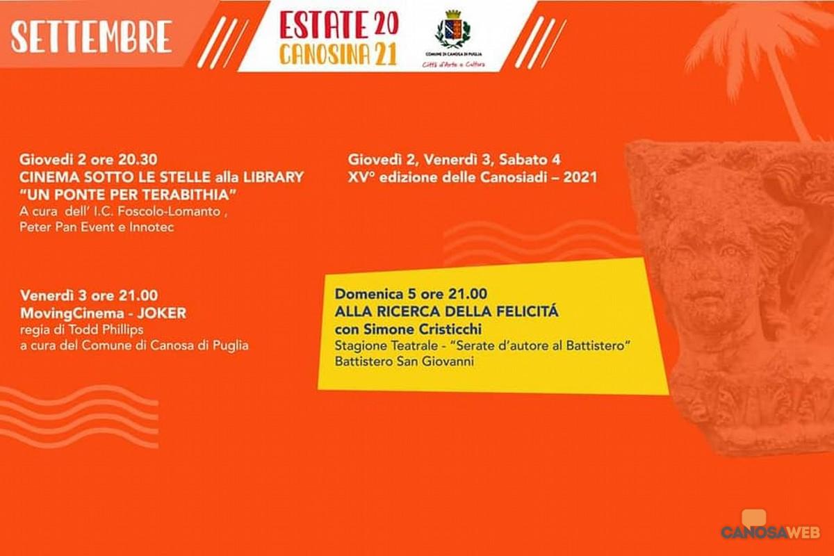 Estate Canosina Settembre 2021