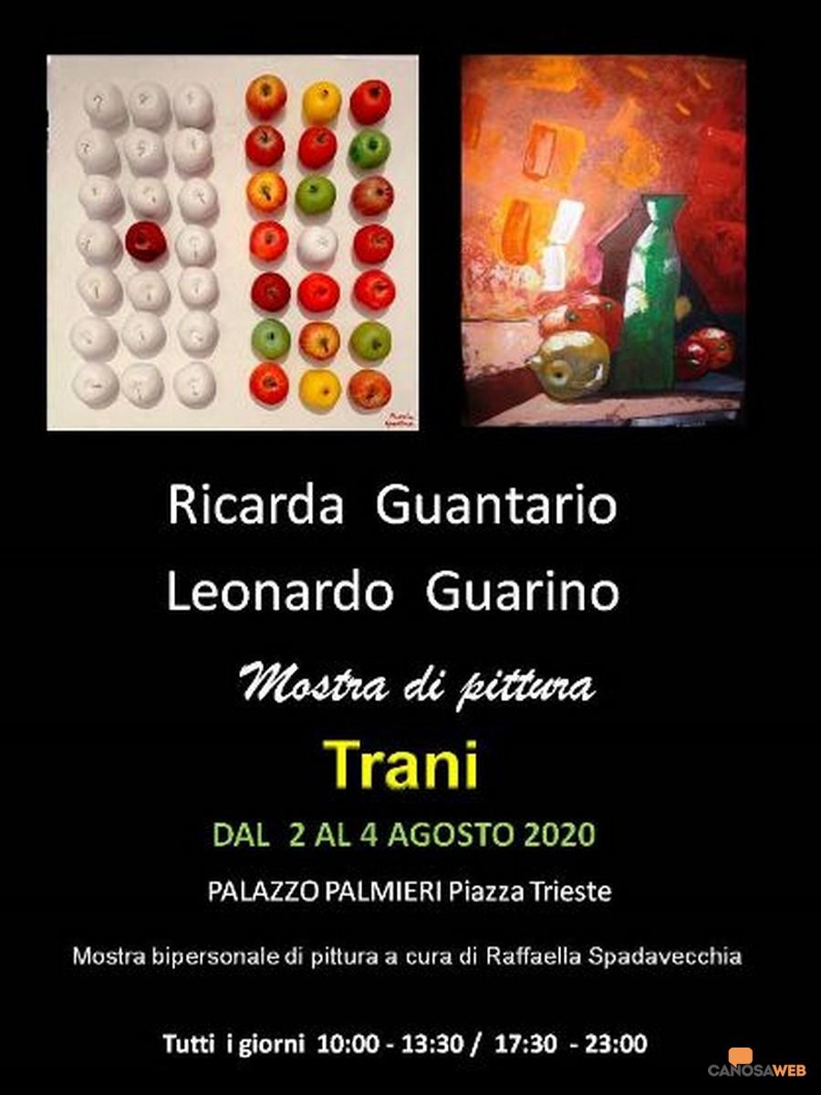 Trani Mostre:  bipersonale di Ricarda Guantario e Leonardo Guarino