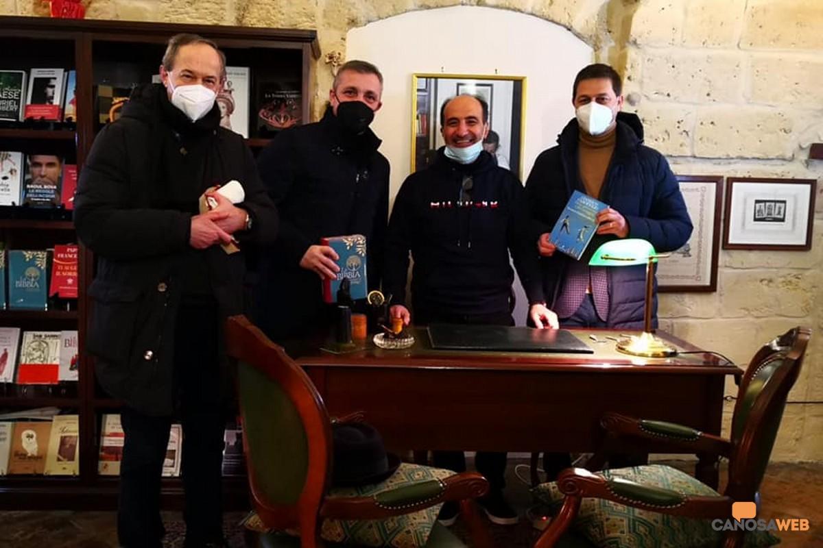 Mons Felice Bacco- Francesco Ventola-Franco Pastore-Sindaco Roberto Morra