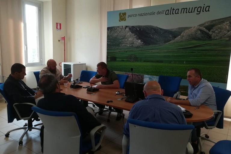Delegazione presidenti Coldiretti BARI BAT con presidente Parco Tarantini