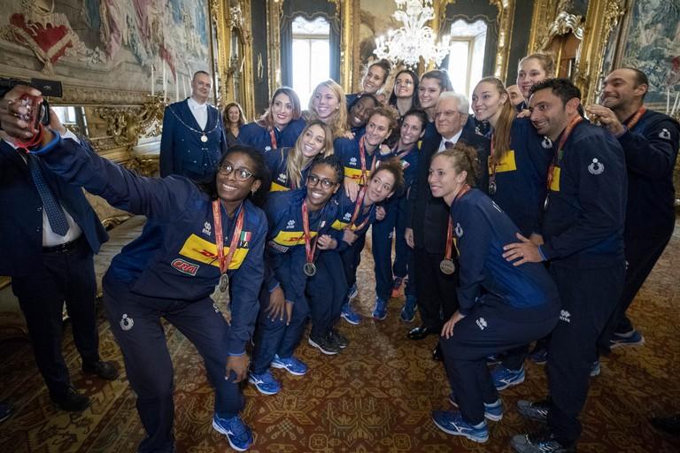 Mattarella Nazionale Volley Femminile
