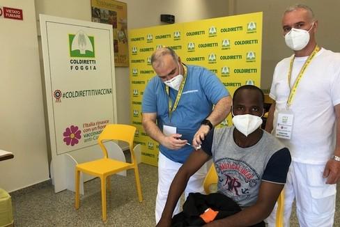 Coldiretti  Vaccinazioni migranti  Foggia