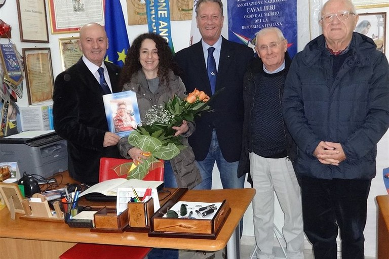 Grazia Mastrapasqua presso sede ANCRI Canosa