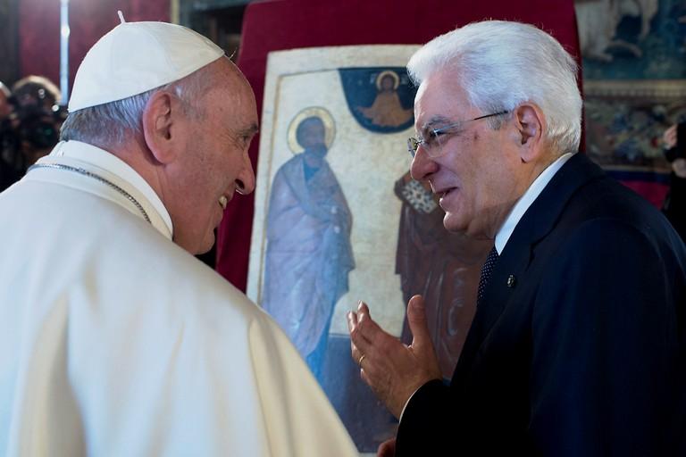 Papa Francesco e Sergio Mattarella
