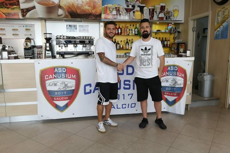 Canusium Calcio :Angelo  Piacenza e Giuseppe Lamanna