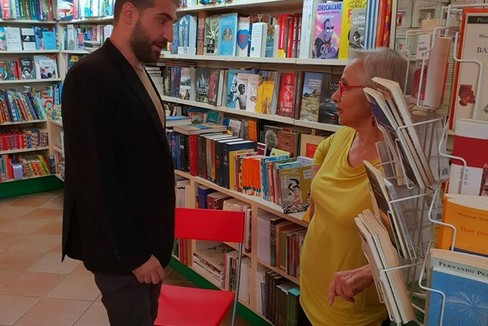 Piergiorgio Pulixi  a San Severo Libreria Orsa Minore