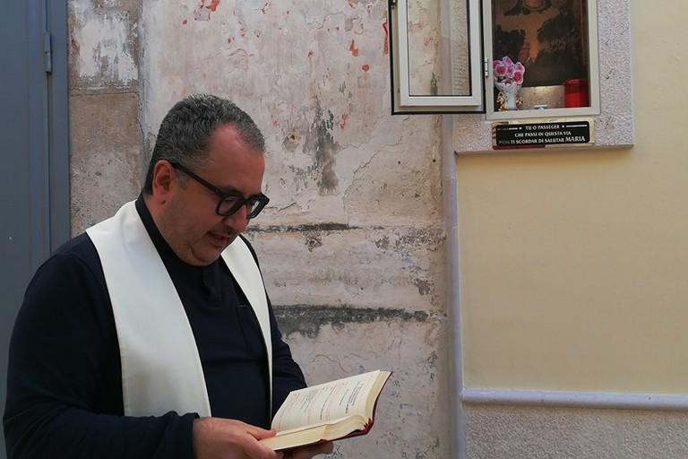 Don Nicola Caputo edicola votiva Canosa 2020