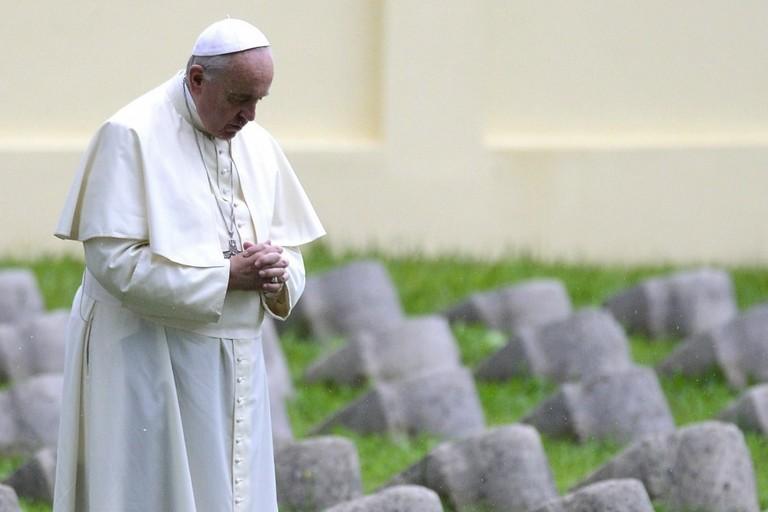 2014 Papa Francesco Cimitero Militare austro-ungarico di Fogliano di Redipuglia