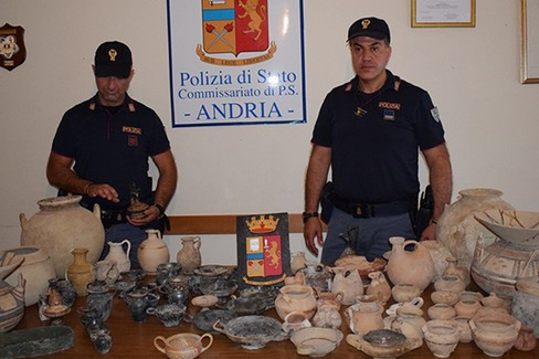 Reperti archeologici Polizia