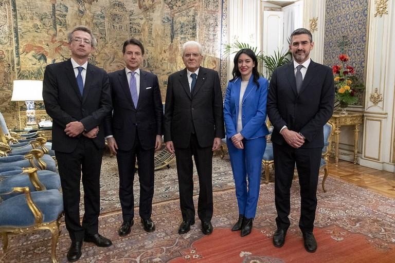 Conte, Mattarella, ministri Azzolina e Manfredi