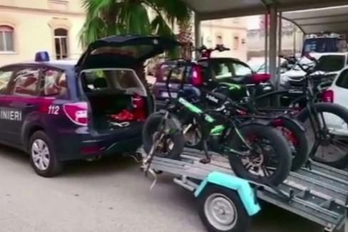 """Carabinieri  Sequestri di biciclette elettriche """"elaborate"""""""