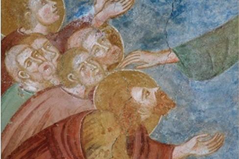 Affresco XIII secolo  Chiesa  Santa Margherita- Laggio di Cadore (Belluno)