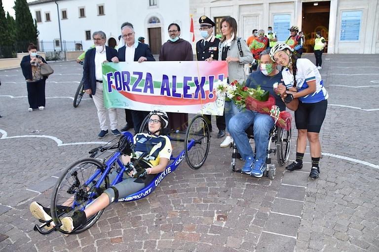 Staffetta Tricolore a  San Giovanni Rotondo Lucia Nobis