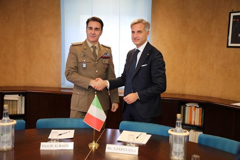 Gen. B. Giorgio Rainò e dott. Sergio Fontana