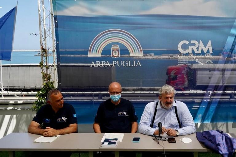 Nicola Ungaro-Vito Bruno- Michele Emiliano al CRM
