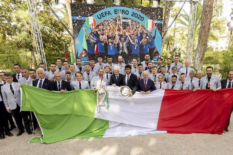 Nazionale di calcio italiana- Mattarella
