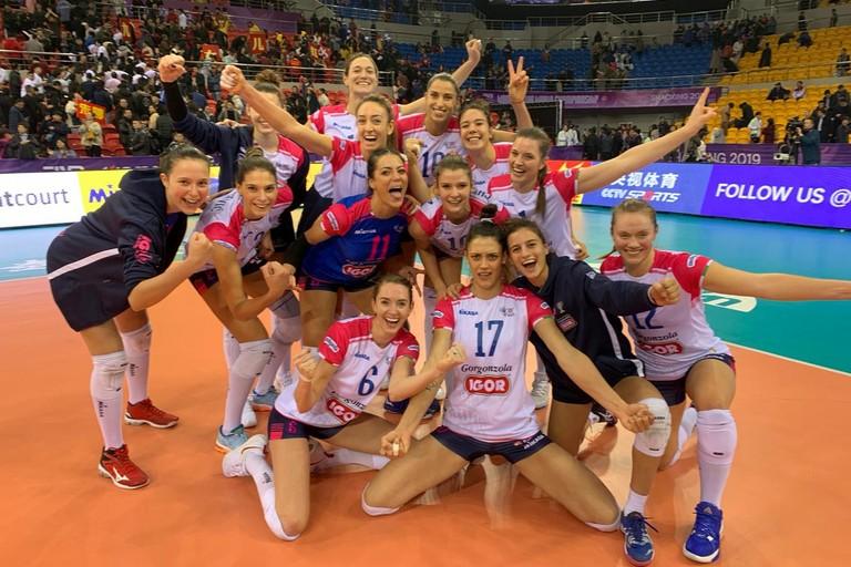 Igor Volley Novara con Stefania Sansonna