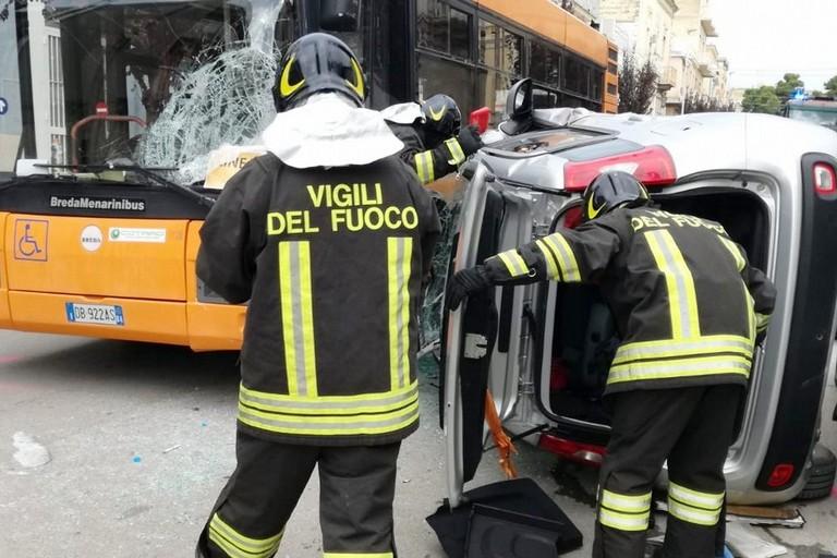 Incidente stradale  Corso Garibaldi Canosa