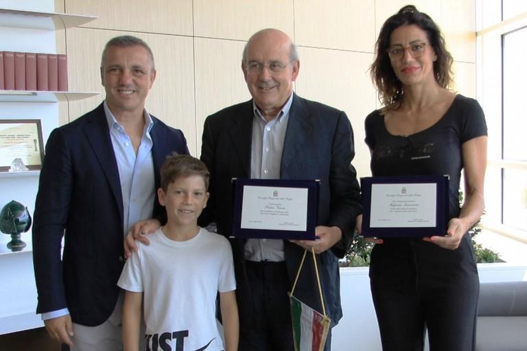 Premiazione Sansonna Vernò con Loizzo e Ventola