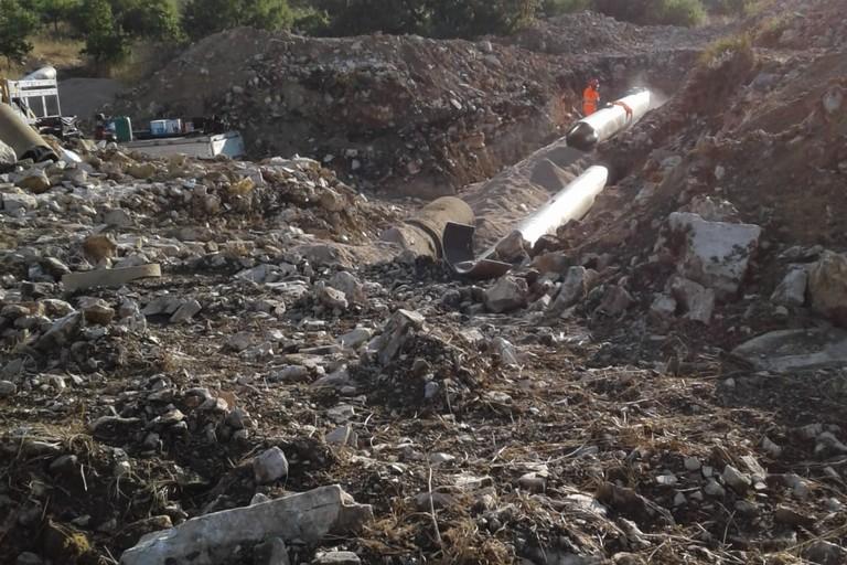 Irrigazione rete colabrodo Minervino