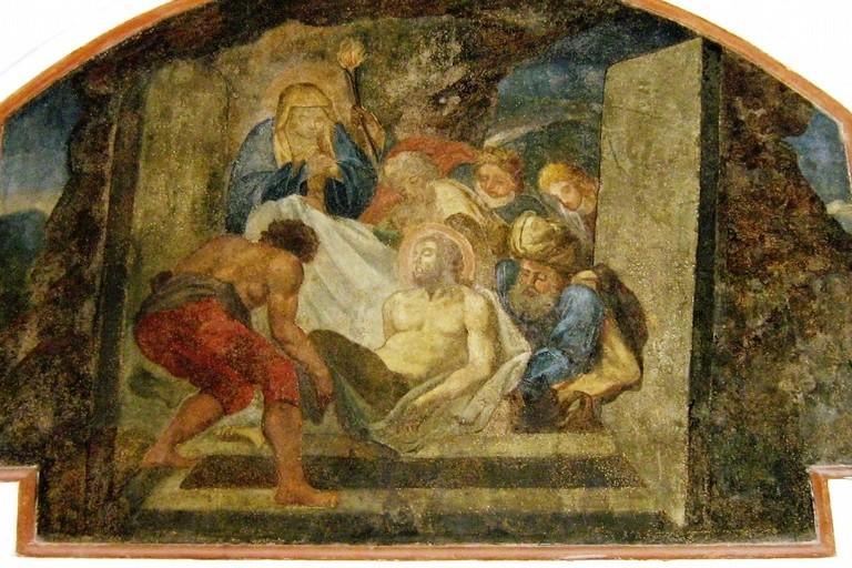 Affresco della PIETAS nel Monte di Pietà