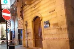 Crollo di calcinacci da Palazzo Sinesi