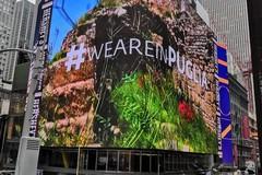 Selfie con la Puglia a Times Square