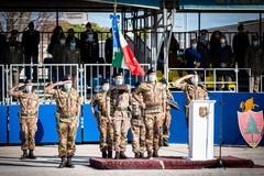 """Il ColonnelloFrancesco Alaimoal comando dell'82° Reggimento Fanteria """"Torino"""""""
