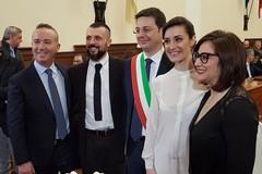 Nozze in Comune per l'on. Giuseppe D'Ambrosio e la sua Mariangela