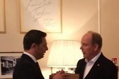Il sindaco  Morra ha incontrato il Principe Alberto di Monaco