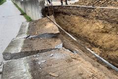 Canosa: Lavori di rifacimento del muro di via Falcone